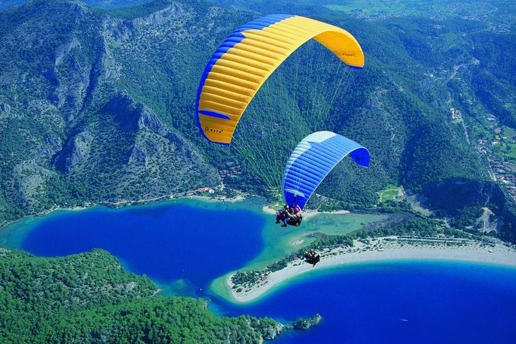 Параглайдинг в Олюдениз. Фетхие: прыжок с горы Бабадаг