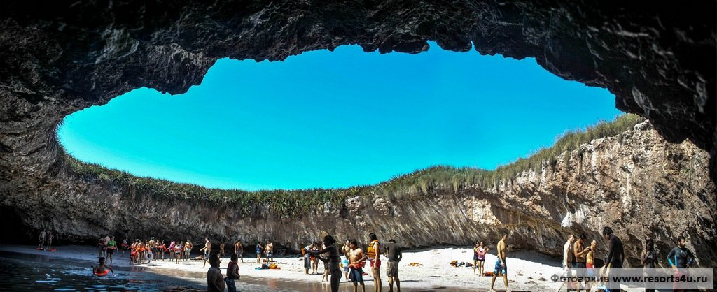 Скрытый пляж (Hidden Beach/Playa de Amor)  - Мексика (Пуэрто-Вальярта)