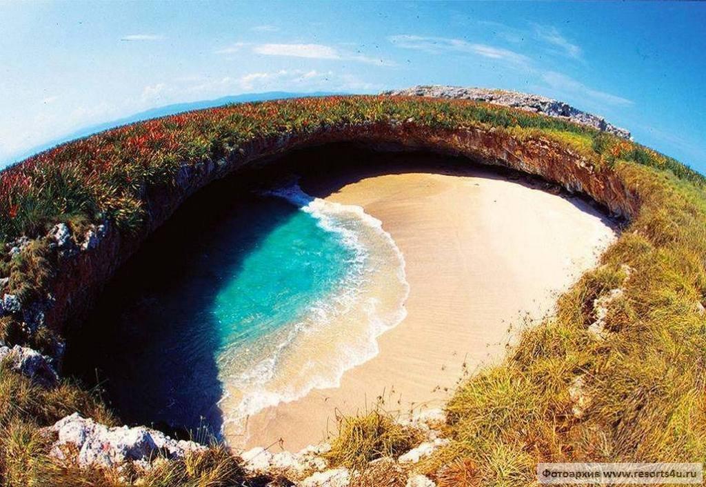 Скрытый пляж (Hidden Beach/Playa Escondida/Playa de Amor)  - Мексика (Пуэрто-Вальярта)