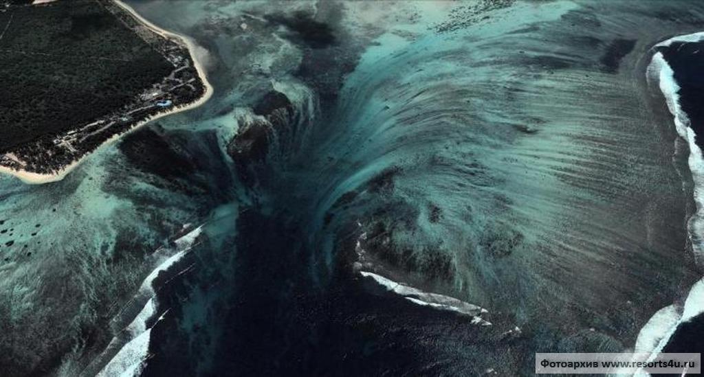 Уникальная иллюзия подводного водопада