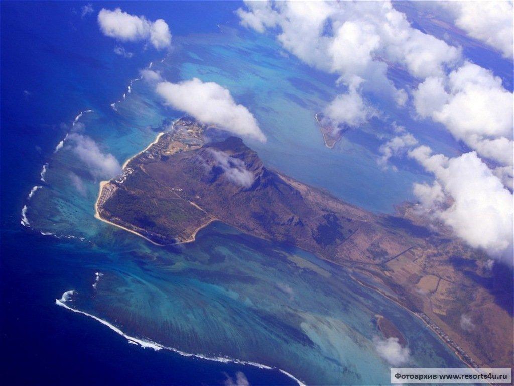Подводный водопад Маврикия