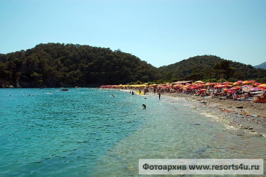 Пляж в Голубой лагуне Олюдениз