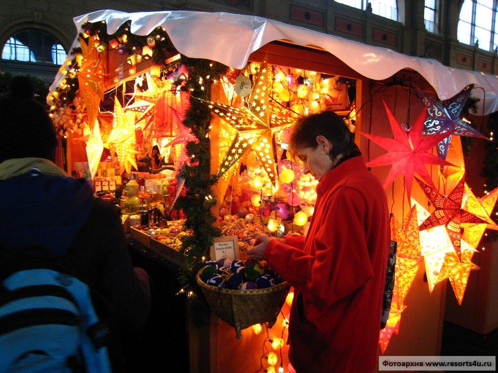 Рождественский базар в Цюрихе