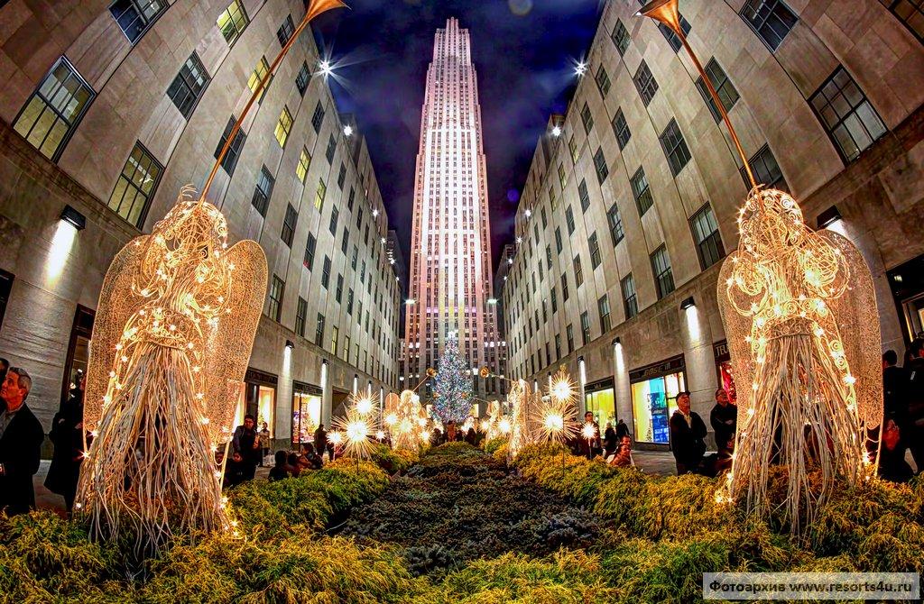 Самая известная новогодняя елка Нью-Йорка