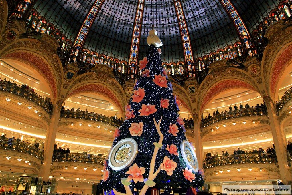Лучшая рождественская елка Парижа