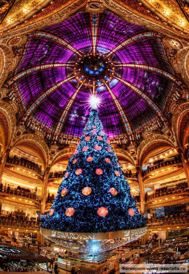Самая нарядная новогодняя елка Парижа
