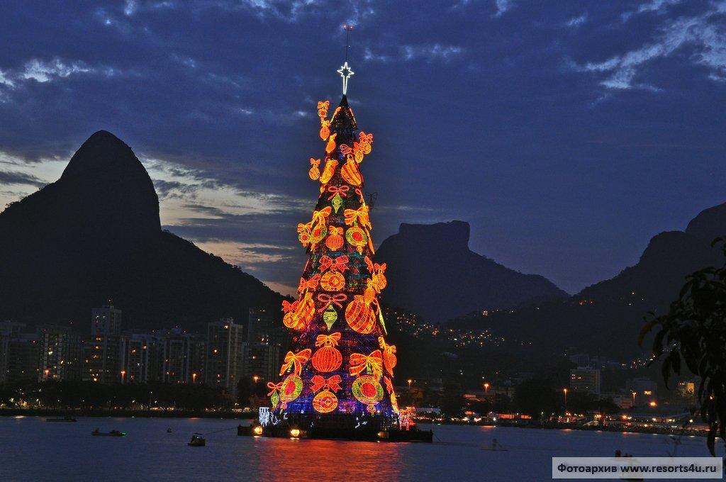 Самая большая новогодняя елка в Бразилии