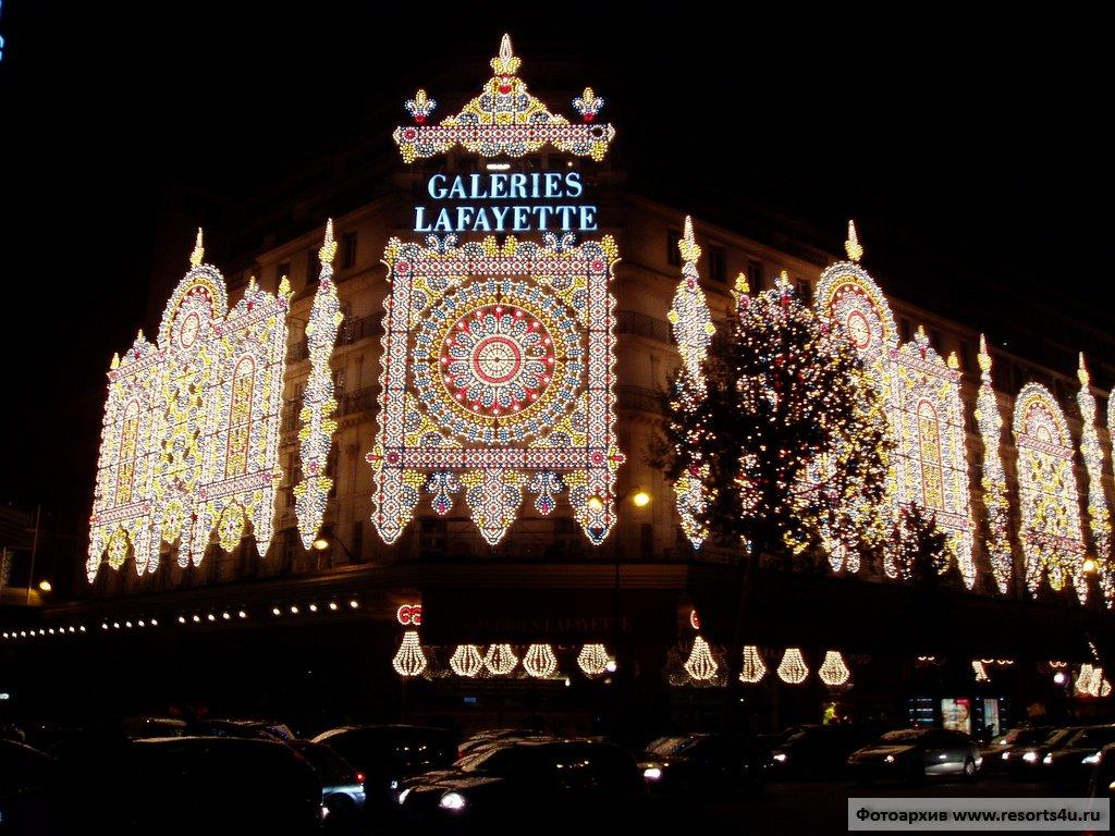 Рождественская иллюминация Галереи Лафайет