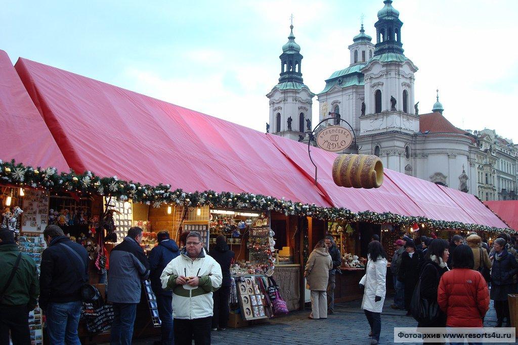 Рождественская ярмарка в центре Праги