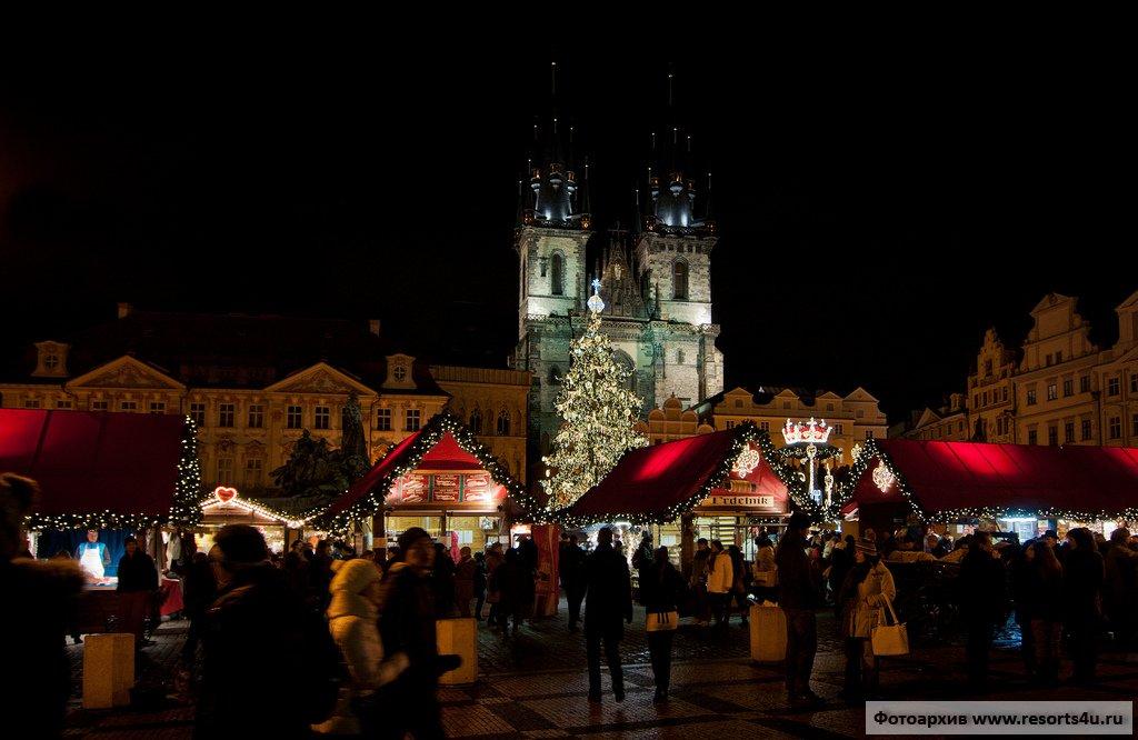 Прага, рождественский рынок в Старом городе