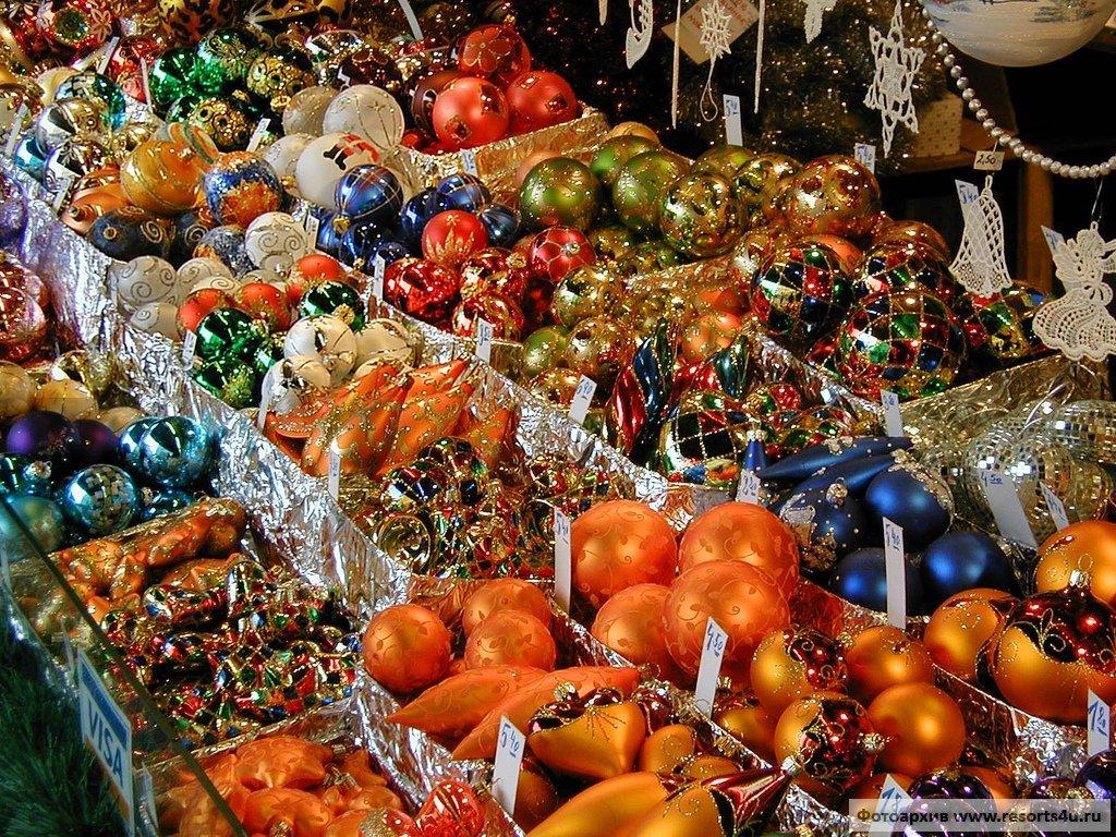 Рождественский базар Вены на Ратушной площади