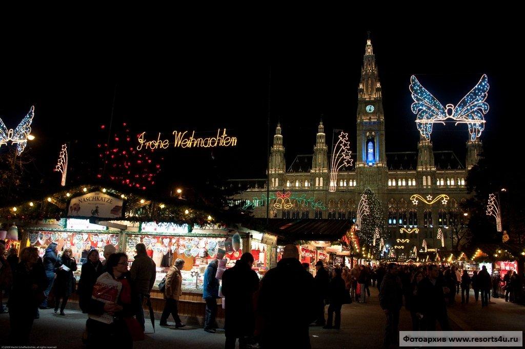 Вена, Christkindlmarkt на Ратушной площади